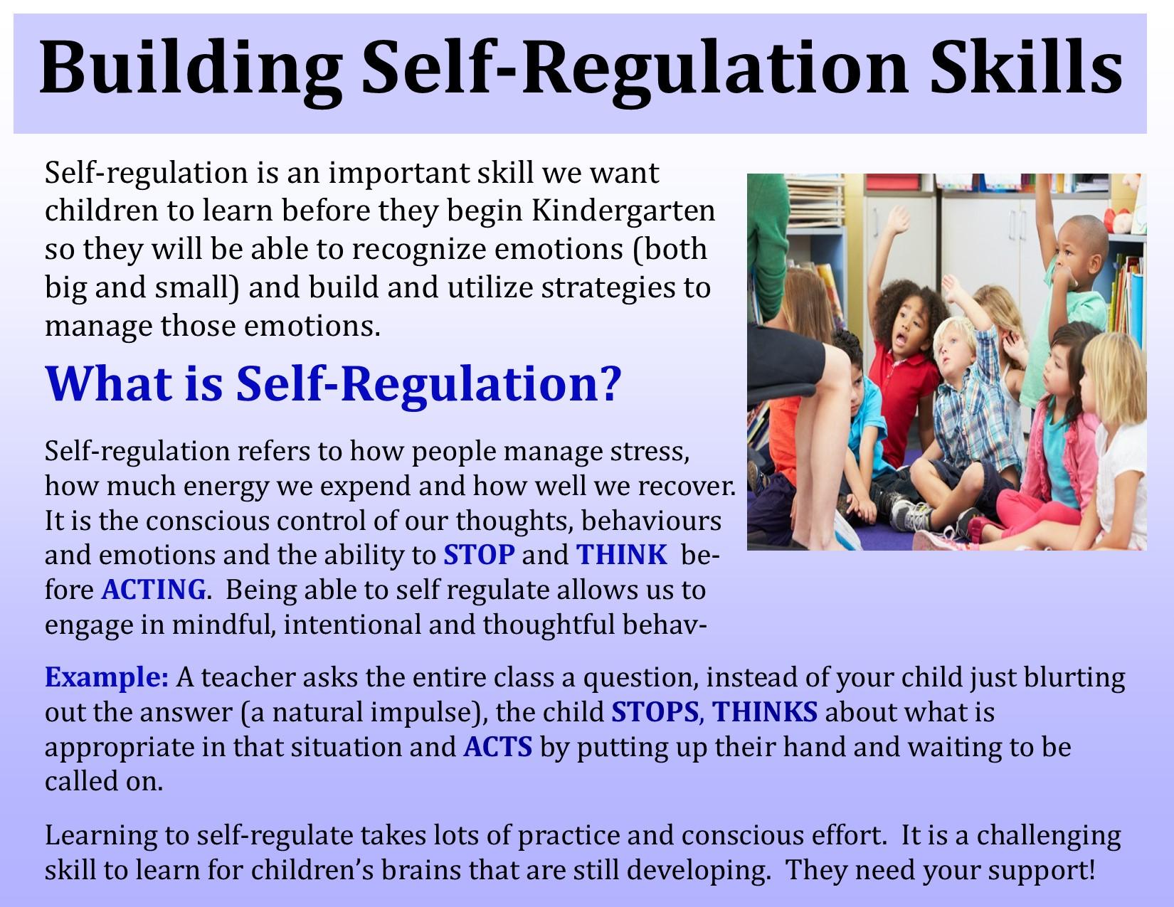 Building Self-regulation Skills