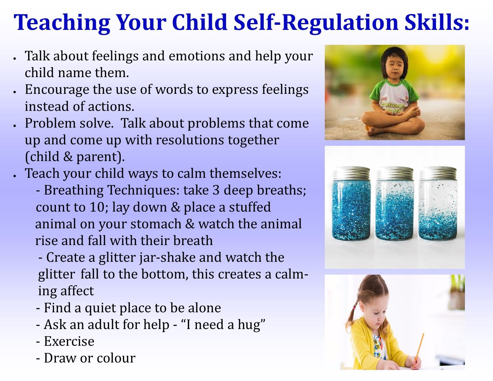 Teaching your child self-regulation skills