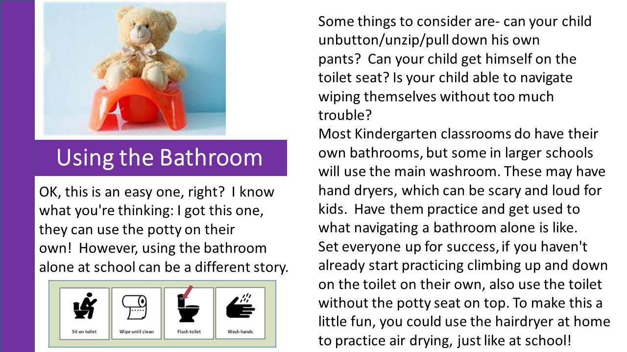 Using the Bathroom
