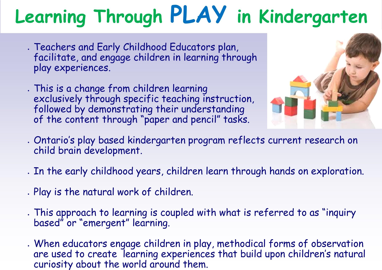 Learning Through Play in Kindergarten