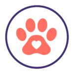 Dog Lover basket icon - paw print