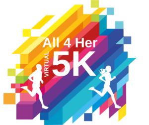 All 4 Her Virtual 5k logo